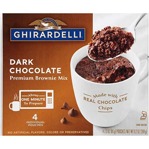 Ghirardelli Mug Brownie Mix Dark Chocolate 23 Ounce Pack of 24