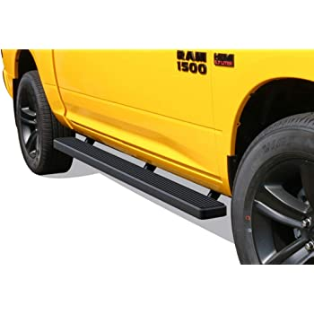 Tyger Auto TG-RS9D60068 Riser Compatible with 2009-2018 Ram 1500; 2019-2020 1500 Classic; Quad Cab 6.5 Bed 5inch Wheel-to-Wheel W2W Black Running Boards Side Step Rails Nerf Bars