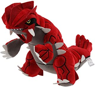 HHtoy 28cm Groudon Plush Toy Doll Anime Figures Pillow Pokemon Stuffed Soft Dolls Accompanying Puppets Children Birthday