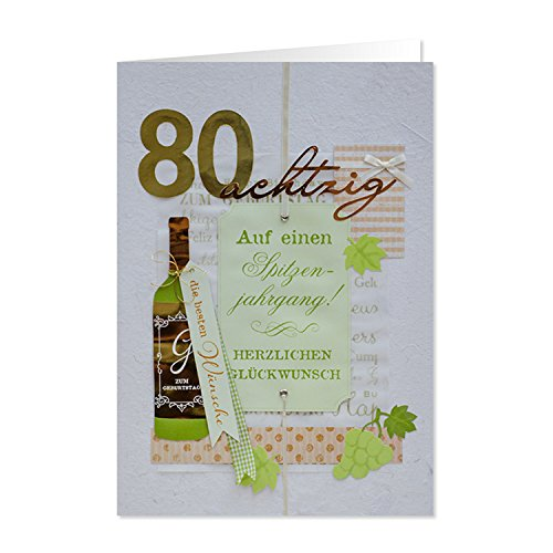 GRUSS & CO 90224 XL handmade Grußkarte, Geburtstag,