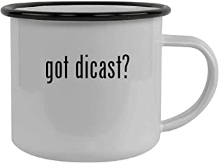 got dicast? - Stainless Steel 12oz Camping Mug, Black