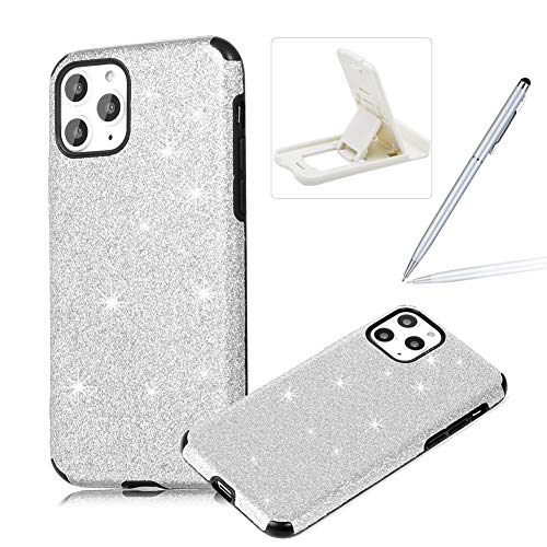 Find Discount Silver Glitter TPU Case for iPhone 11,Soft Silicone Case for iPhone 11,Herzzer Luxury ...
