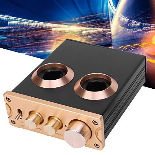 AMONIDA Preamplificador, Amplificador de Tubo de preamplificador Phono de Audio para el hogar Compatible con APTX 12V para teléfono para TV para el hogar para MP3 para Reproductor de CD