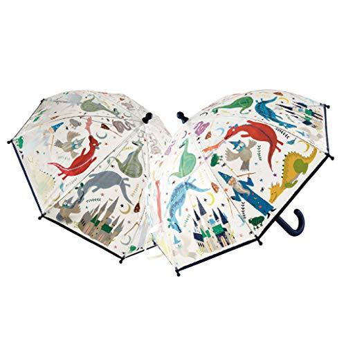 Floss & Rock Zauberhafter Regenschirm mit Drache und Zauberer