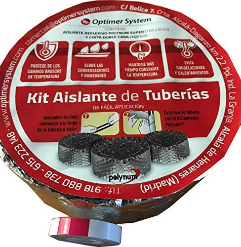 Aislamiento tuberias/Aislante tuberias - 10 x 0,08 m Optim HOME - Polynum