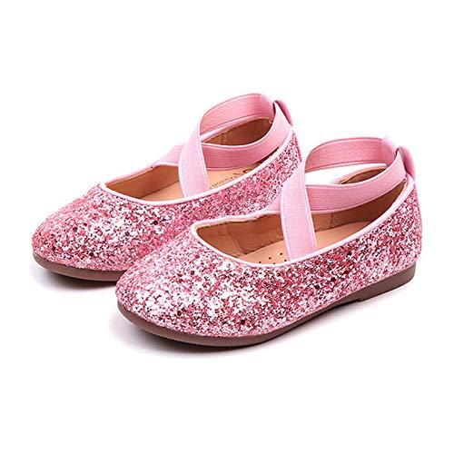 Ghemdilmn Kinder Tanzschuhe Kleinkind Pailletten Kristall Prinzessin Schuhe Mädchen Ballettschuhe Flache Schuhe Bequem Gummiband Einzelne Schuhe