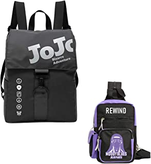 Jojo's Bizarre Adventure Backpack,Moody Blues Anime Chest Bag Cosplay Daypack For School Man Women Students Anime Fans