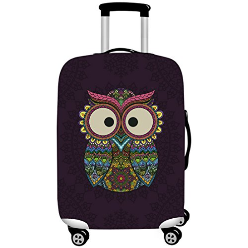 Gwell 3D Owl Cartoon Elastic/Luggage Cover Case With Zip Closure Travel Suitcases Case Box Cover Luggage Cover for 18–32inch XL: 29-32 Zoll Koffer