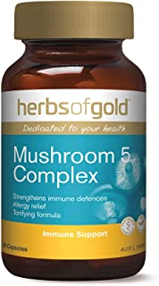 Herbs of Gold Mushroom 5 Complex 60 Capsules, 60 count
