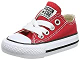 Converse Chuck Taylor All Star Ox, Zapatillas Unisex Niños, Rojo (Red 600), 18 EU