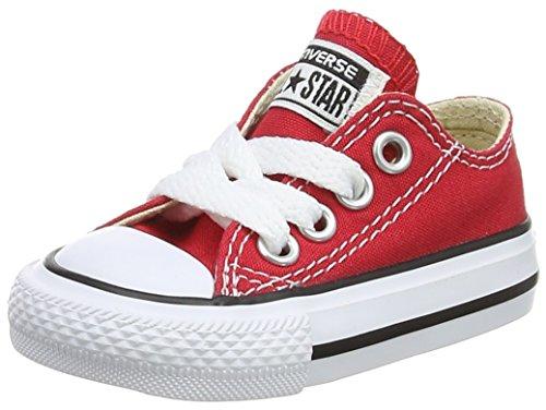 Converse Jungen Unisex Kinder Chuck Taylor All Star OX Hausschuhe, Rot (Red 600), 18 EU