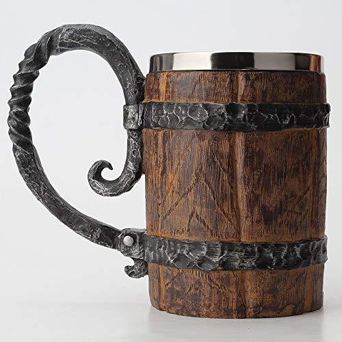 Barril De Madera Inoxidable Taza De Cerveza De Acero Resina Cáliz Juego De Jarra De Cerveza De La Taza De Café Del Vidrio De Vino De 650 Ml De Café, Café, Café Barato, 3D Taza De Cerveza Jarra De Cerv