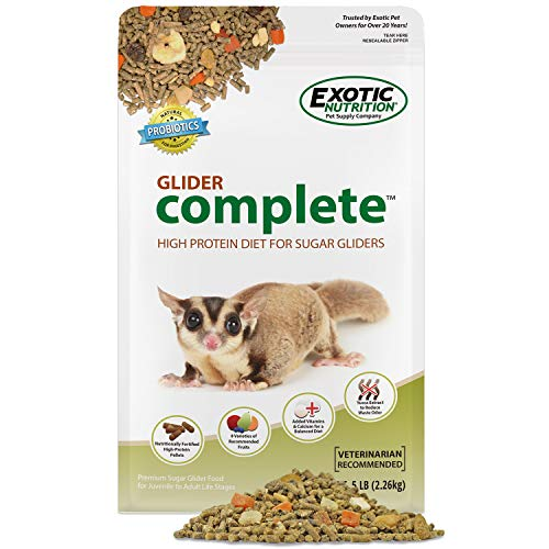 Glider Complete - Healthy High Protein Nutritionally Complete Staple Diet Sugar Glider Food (5 lb.)