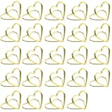 Clip Segnaposto Porta Memo CHEPL Base Clip Supporto Segnaposto A Forma Di Stella Mini Segnaposto A Forma Di Cuore, In Metallo, Per Matrimoni, Ufficio, Feste Di Compleanno, 24 Pezzi