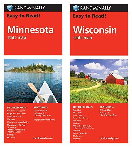 Rand McNally State Maps: Minnesota and Wisconsin (2 Maps)