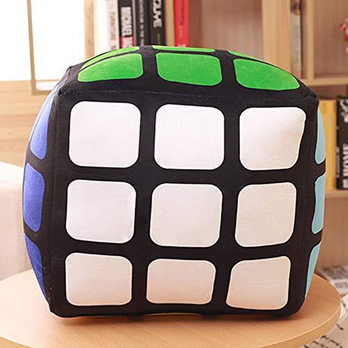ZRZJBX Almohada Infantil Decorativa Juguete De Peluche De Rubik Creativo CojíN Cuadrado Almohada TriáNgulo Almohada MuñEca para NiñOs,square-35×35cm