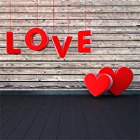 Qinunipoto 背景布 撮影用 背景 バレンタインデー背景布 ウォールステッカー写真 ポートレート写真 撮影背景布 LOVE 赤いハート 写真を撮る恋人 自宅用 写真 小道具 背景ボード 撮影背景 ビニール 1.8m x 1.8m