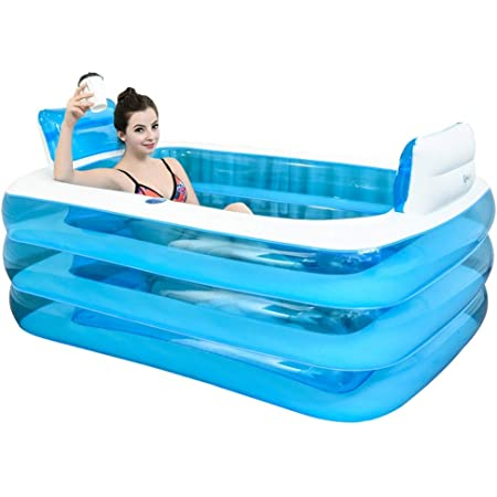 Gweat Bain gonflable, la baignoire est plié, baignoire adulte épaissie baignoire bain baril en plastique.