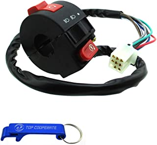 TC-Motor 3 Function 8 Wire Handle Kill Light Start Switch For Chinese 50cc 70cc 90cc 110cc ATV Quad Kazuma Taotao Coolster