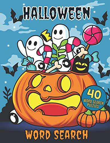 Halloween Word Search 40 Puzzles: Crossword Puzzle Brain Game For Adults, Seniors And Kids - Fun Riddles Book With Large Pages Size - Easy Level For Beginners