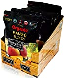 Organic Sun Dried Mangos - 3.5oz (Pack of 6) - Kosher and Non-GMO...