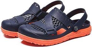 FDSVCSXV Garden Clogs Shoes Sandals Slippers Mules, Mens Lightweight Shoes for Men Summer Slippers Sandals,Blue orange,39