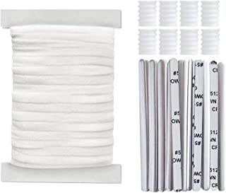 """Elastic Band 20 Yards 1/4"""" White, Nose Wire Strip(20pcs) and 8pcs Adjustable Buckle"""