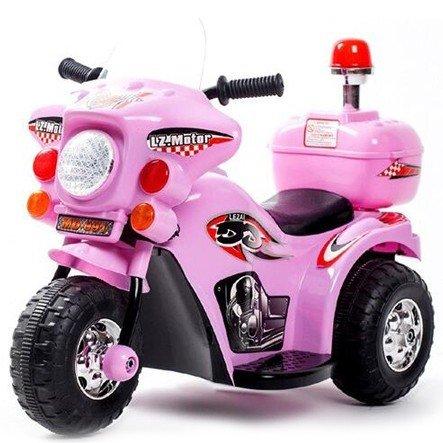 Triciclo Elétrico Infantil Moto Elétrica Infantil Bz Cycle Rosa Barzi Motors