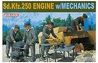 プラッツ 1/35 第二次世界大戦 ドイツ軍 Sd.Kfz.250 エンジン w/整備兵セット DR6112 プラモデル