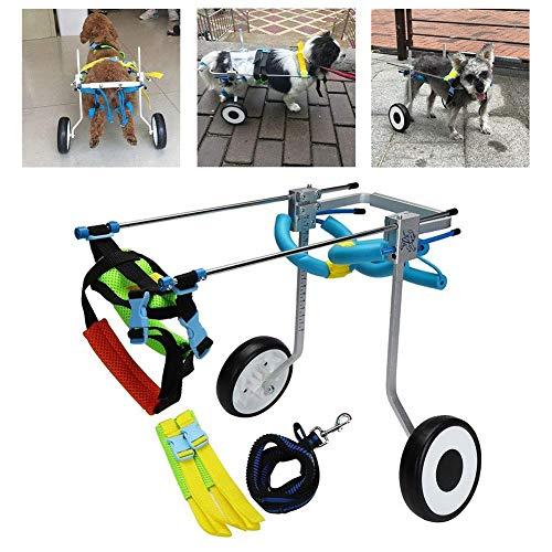 WYJW Silla de Ruedas para Perros Patas traseras Ajustables Soporte de Cadera y articulaciones para Perros con Artritis Displasia de Cadera Arnés de elevación para Perros Ayudas para CAM