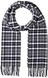 GANT D1. Checked Twill Wool Scarf Bufanda de moda, Color gris, Talla única para Hombre