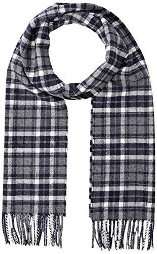 GANT D1. Checked Twill Wool Scarf Bufanda de moda, Color gris, Talla...