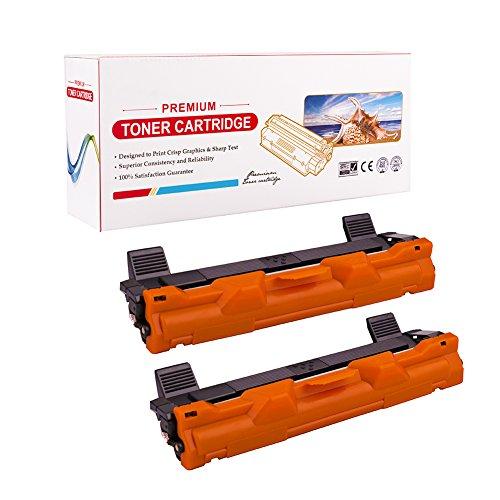 RadTek 2 Pack Kompatibel Brother TN1050 TN-1050 Schwarz Toner for Brother HL-1110 E HL-1112 A HL-1210W DCP-1510 E DCP-1512 E DCP-1610W MFC-1810 E MFC-1910 MFC-1910W MFC-1911 NW