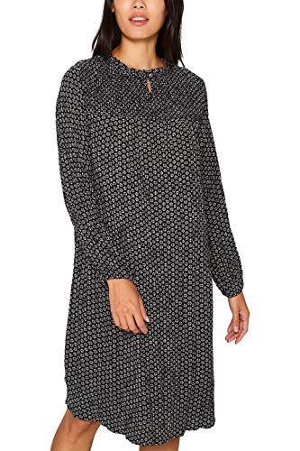 ESPRIT Damen 099EE1E015 Kleid, Schwarz (Black 001), (Herstellergröße: 40)