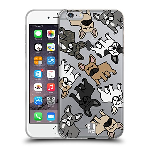 Head Case Designs Bulldog Francese Razze di Cani Pattern Cover in Morbido Gel Compatibile con Apple iPhone 6 Plus/iPhone 6s Plus