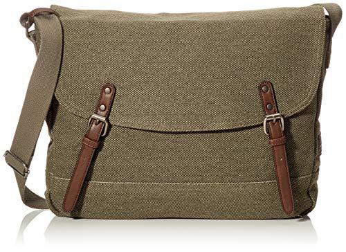 TOM TAILOR Umhängetasche Herren, Grün, Max, 40x9x28 cm, Messenger bag, Herrentasche