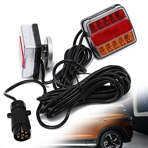 Luz trasera LED para remolque, iluminación LED de seguridad, cable de iluminación para remolque con reflector integrado, 12 V