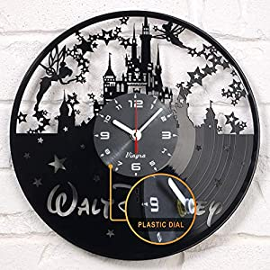 "✅ REAL SURPRISE for DISNEY fans! Surprise 🎁 your loved ones with an original present! This useful and functional non-ordinary clock is really worth to be the gift for you 😍 ✅ VINTAGE & INNOVATION - the clock is handcrafted in Europe of real 12"" vinta..."