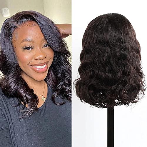 Ruiyu - Peluca de cabello humano virgen brasileño, sin pegamento, de encaje, cabello de bebé, para mujeres negras, nacimiento del pelo natural