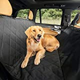 Plush Paws Products Hammock Waterproof Luxury Car Seat Cover with Pet Harnesses, Extra Large (Black) -USA Based