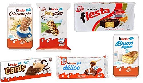 Testpaket Kinder Ferrero Brioss Colazione più Panecioc delice fiesta cards