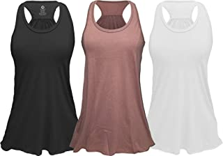 Flowy Racerback Tank Top, Regular and Plus Sizes Pack of 3