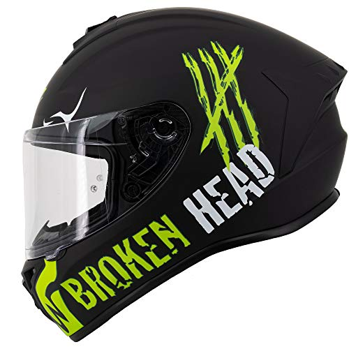 Broken Head Adrenalin Therapy II matt (M 57-58 cm) Motorradhelm - Helm grün - Integralhelm