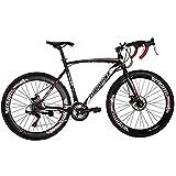 Eurobike Road Bikes 700C Wheels 54cm Frame Adult Racing Bicycle 21 Speed (60mm)