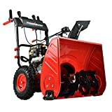 PowerSmart Snow Blower, 26-INCH Remove Width Snow Blower, 4-Stroke 212cc Gas Snow Blower, 2-Stage Electric Start Gas Powered Snow Blower, Color Red and Black, PSS2260L