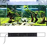 Gatuxe Luz LED para acuarios, Decoraciones seguras para peceras con Carcasa de aleación de Aluminio, Ligeras para Agua Dulce casera(Transl)