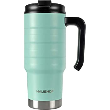 HAUSHOF 24 oz Travel Mug, Stainless Double Wall Vacuum Insulated Tumbler