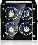 PLMOKN Watch-Wickler - Intelligente Uhr Shaker Antimagnetic Mechanical Watch Automatische Wickelgeräte Touchscreenuhr Wickler Staubsichere Aufbewahrungsbox mit (Color : Black, Size : 26×18×26.5CM)