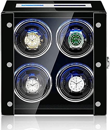 PLMOKN Reloj Windoer - Watch Shaker Inteligente Reloj Mecánico antimagnético Dispositivo de bobinado automático Touch Screen Watch Winder Caja de Almacenamiento a Prueba de Polvo con