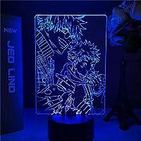 Tatapai ナイトライト柔術漫画のキャラクターナイトライト寝室の装飾誕生日プレゼント柔術テーブルランプ雰囲気ライト子供のためのホリデーギフト